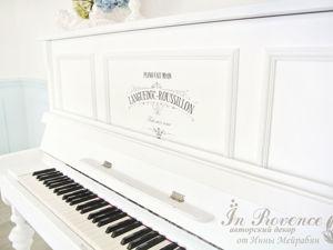 МК перекраска старого фортепьяно. Ярмарка Мастеров - ручная работа, handmade.