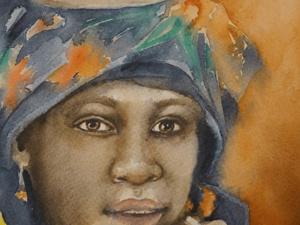 Рисуем портрет акварелью по-сырому. Ярмарка Мастеров - ручная работа, handmade.