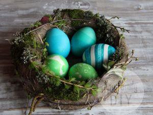 Красим яйца на Пасху! 3 простых и интересных способа. Ярмарка Мастеров - ручная работа, handmade.