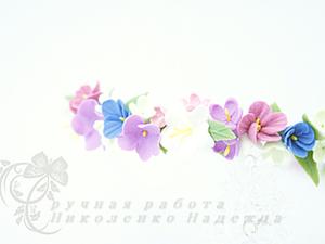 Ободок с цветами.. Ярмарка Мастеров - ручная работа, handmade.