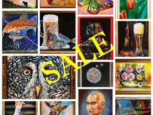 Распродажа картин после выставки. Ярмарка Мастеров - ручная работа, handmade.