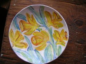 Блюдо  «Нарциссы»  за 1500 только сегодня и завтра!!!!. Ярмарка Мастеров - ручная работа, handmade.