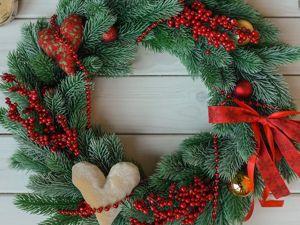 Видео моих рождественских веночков. Ярмарка Мастеров - ручная работа, handmade.