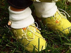 Шьем ботиночки для куклы. Ярмарка Мастеров - ручная работа, handmade.