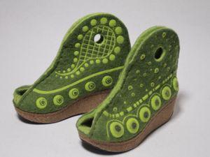 Декорируем валяную обувь. Ярмарка Мастеров - ручная работа, handmade.