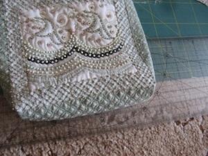 Винтажно-гламурная сумочка из старых тряпочек. Рециклинг, или даёшь новую жизнь старым вещичкам! 3 ч. Ярмарка Мастеров - ручная работа, handmade.