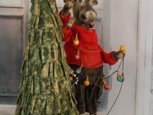 Ёлка новогодняя и Лось. Ярмарка Мастеров - ручная работа, handmade.