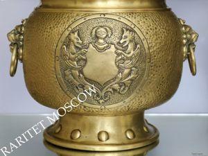 РАРИТЕТИЩЕ Кашпо лев латунь бронза Бельгия 19век 4. Ярмарка Мастеров - ручная работа, handmade.