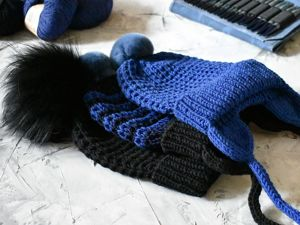 Вяжем шапку твидовым узором. Ярмарка Мастеров - ручная работа, handmade.