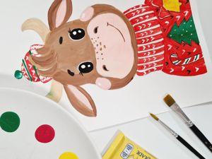 Рисуем с детьми: урок «Бычок». Ярмарка Мастеров - ручная работа, handmade.