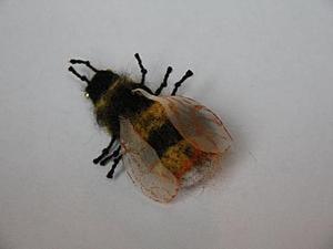 """Валяем забавное насекомое: """"То ли шмель, то ли пчела"""". Ярмарка Мастеров - ручная работа, handmade."""