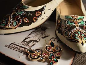 Роспись туфель акриловыми красками. Ярмарка Мастеров - ручная работа, handmade.