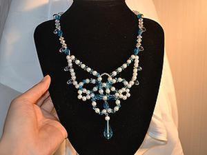 Мастер-класс: изготовление нежного ожерелья в форме бабочки. Ярмарка Мастеров - ручная работа, handmade.