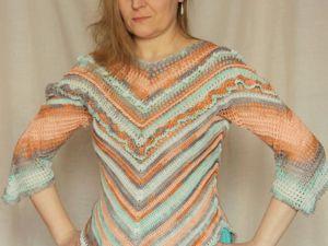 Женская блуза крючком. Ярмарка Мастеров - ручная работа, handmade.