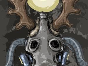 День 169. Векторная графика  «Солнечный лось». Ярмарка Мастеров - ручная работа, handmade.