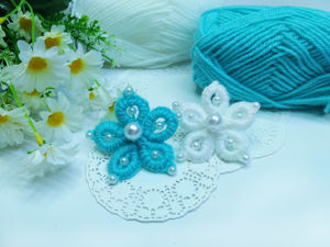 Цветы из пряжи без спиц и крючка. Ярмарка Мастеров - ручная работа, handmade.