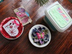 Шкатулочки из баночек от зубного порошка. Ярмарка Мастеров - ручная работа, handmade.