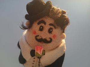 "Валяем куклу ""Я Вас Лю..ю"". Ярмарка Мастеров - ручная работа, handmade."