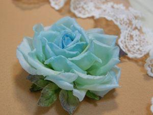 Мастер-класс  «Роза из шелка». Ярмарка Мастеров - ручная работа, handmade.