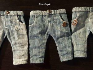 Шьем джинсы для куклы. Ярмарка Мастеров - ручная работа, handmade.
