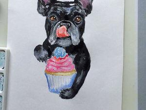 Рисуем собаку акварелью. Ярмарка Мастеров - ручная работа, handmade.