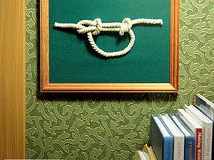 Морской узел в рамке. Ярмарка Мастеров - ручная работа, handmade.