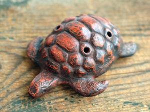 Окарина  «Черепаха»  настроенная. Ярмарка Мастеров - ручная работа, handmade.