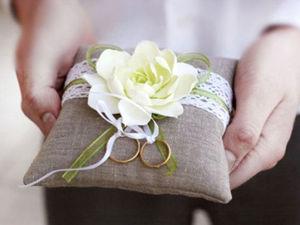 Зачем же нужна подушечка для колец. Ярмарка Мастеров - ручная работа, handmade.