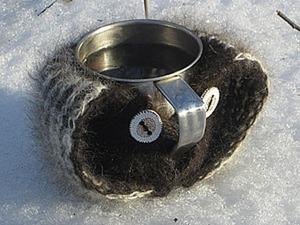 Кружка-варежка — необходимость для зимних путешественников. Ярмарка Мастеров - ручная работа, handmade.