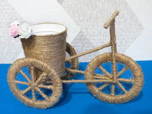 Мастерим декоративный велосипед кашпо. Ярмарка Мастеров - ручная работа, handmade.