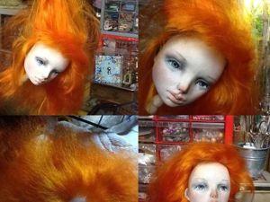 «Вживляем» волосы в кукольную голову. Ярмарка Мастеров - ручная работа, handmade.