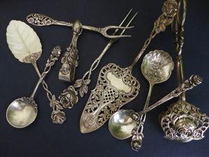 Почти 60 предметов столового серебра со скидкой!. Ярмарка Мастеров - ручная работа, handmade.