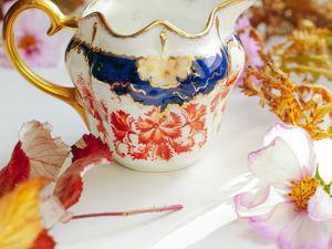 Антикварный фарфоровый соусник молочник имари Англия. Ярмарка Мастеров - ручная работа, handmade.