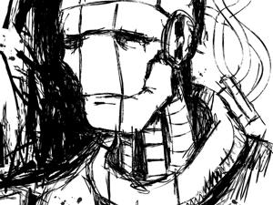 День 189. Набросок  «Белый робот». Ярмарка Мастеров - ручная работа, handmade.