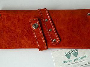 Шьем кошелек из натуральной кожи. Ярмарка Мастеров - ручная работа, handmade.