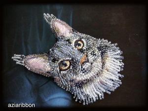 Вышиваем бисером брошь-котика. Ярмарка Мастеров - ручная работа, handmade.