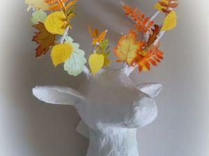 Мастер-класс: интерьерный олень в технике папье-маше. Ярмарка Мастеров - ручная работа, handmade.