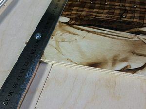 Счищение жала ЧПУ выжигателя о линейку. Ярмарка Мастеров - ручная работа, handmade.