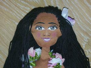 Создание куклы «Гавайская девушка». Часть 4. Роспись лица акриловыми красками. Ярмарка Мастеров - ручная работа, handmade.