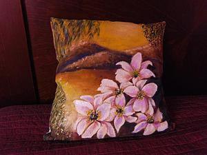 Рисуем на ткани. Вечер, пейзаж. Первая часть. Ярмарка Мастеров - ручная работа, handmade.