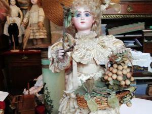Кукла Жюмо со своей танцующей куколкой. Ярмарка Мастеров - ручная работа, handmade.