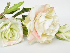Ветка кустовой белой розы. Ярмарка Мастеров - ручная работа, handmade.