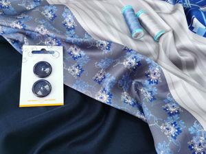 Костюмная ткань из шерсти и кашемира и натуральный шелк. Ярмарка Мастеров - ручная работа, handmade.