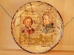 Делаем огненный кракелюр на тарелке. Ярмарка Мастеров - ручная работа, handmade.