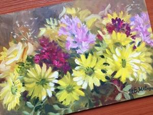 Желтые хризантемы — новиночка!. Ярмарка Мастеров - ручная работа, handmade.