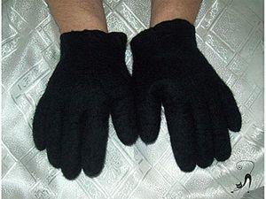 Валяние: Перчатки для любимого мужчины. Ярмарка Мастеров - ручная работа, handmade.