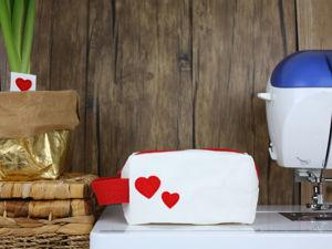 Шьем простую косметичку из швейного крафта. Ярмарка Мастеров - ручная работа, handmade.