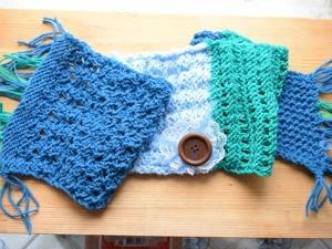 Вязание для ленивых: шарф «Царевна Лягушка» из кусочков. Ярмарка Мастеров - ручная работа, handmade.
