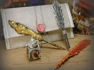 Детали перьевого набора. Ярмарка Мастеров - ручная работа, handmade.