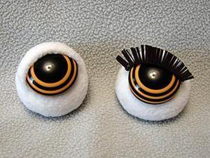 Как сделать реснички для игрушек и кукол. Ярмарка Мастеров - ручная работа, handmade.